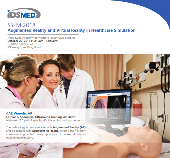 0c7aade180 Augmented Reality and Virtual Reality in Healthcare Simultaion - SSEM 2018  - IDS Medical Systems | Events