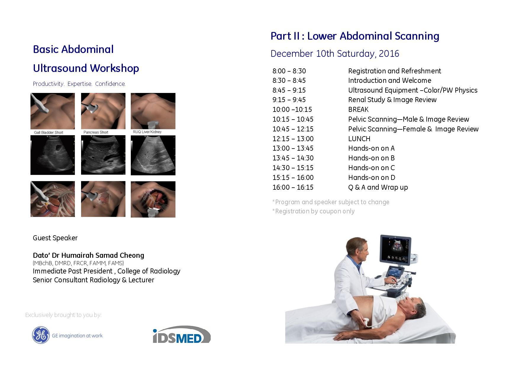 Basic Abdominal Ultrasound Workshop - IDS Medical Systems